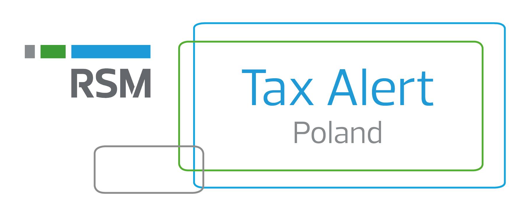 Tax Alert RSM Poland